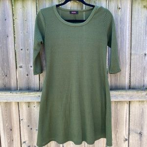 Olive Green Knitted Dress